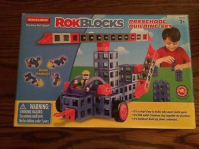 Rokenbok 04845 RokBlocks Preschool Building Set 44 Piece Small Set New in Box!