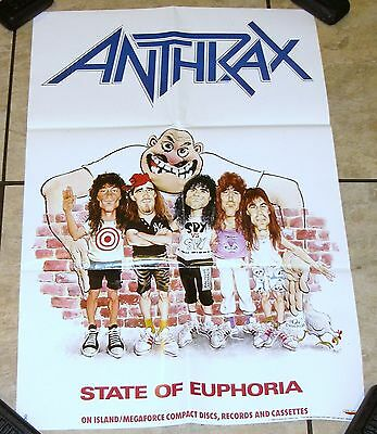 ANTHRAX  State Of Euphoria PROMO POSTER