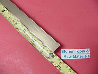"""1-1/4 x 1-1/4"""" C360 BRASS SQUARE BAR 12"""" long Solid 1.25"""" Flat Mill Stock H02"""