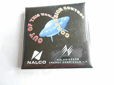 Vintage Nalco Exxon Energy Chemicals Corrosion Control Oil Advertising Pinback