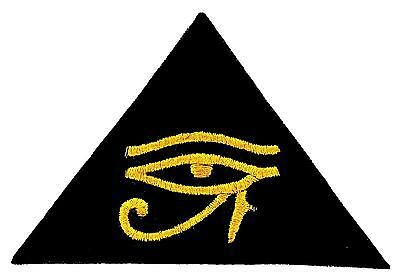 Patch patches backpack embroidered iron sew on badge eye of horus biker symbol