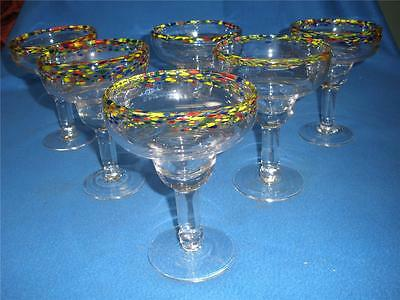 Top Quality Decorated Footed Glass Comports X 6 Casa Domani