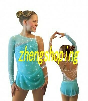 Nice Premiere Ice Skating Dress Competition Skirted Baton Twirling Leotard