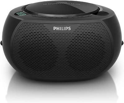 Philips Sound Machine Portable CD CD-R CD-RW MP3 Player Black AZ100B
