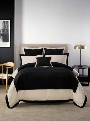 Linen House Hotel Collection 500TC Hunter Black Quilt Cover Set