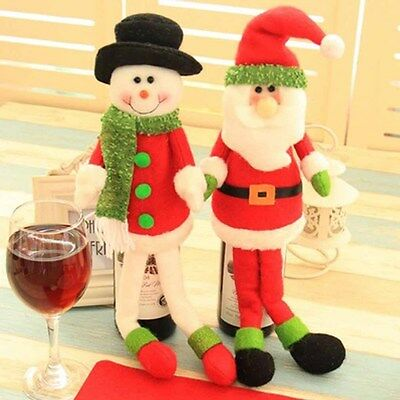 Christmas Clothes  Wine Bottle Cover Clothes  Xmas Table Party Decoration