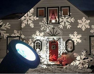 LED Laser Star Snowflake Christmas Home Garden Light Useful Outdoor Decoration