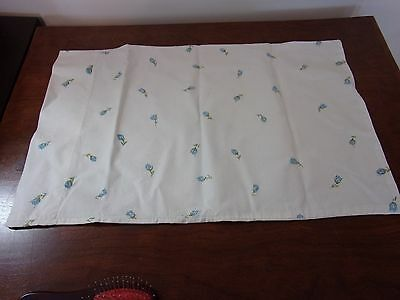 Vintage Hand Crafted Baby Pillow Case Flowers Pre Owned Cute