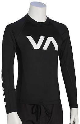 RVCA Boy's VA LS Rash Guard - Black - New