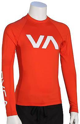 RVCA Boy's VA LS Rash Guard - Lava - New