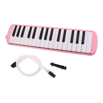 Classic Portable Plastic 32 keys Melodica with Case Wind Instrument Toy Pink