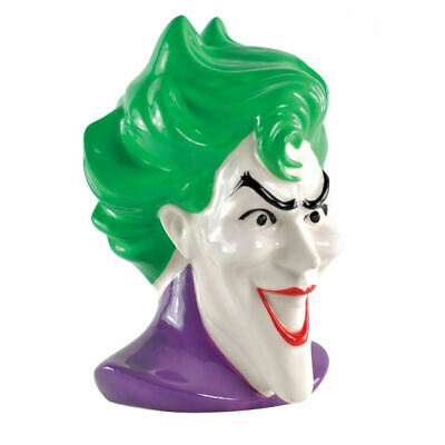 Single The Joker Ceramic Bookend Head Bust Statue Dc Comics Batman Gotham Clown