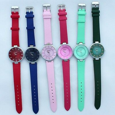 6pcs Mixed Bulk Fashion Women Girl's Leather Casual Wristwatches Party Gift U57M