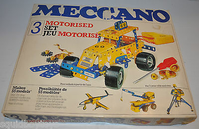 MECCANO #3 vintage Building TOY 1978 Motorized Playset - rj