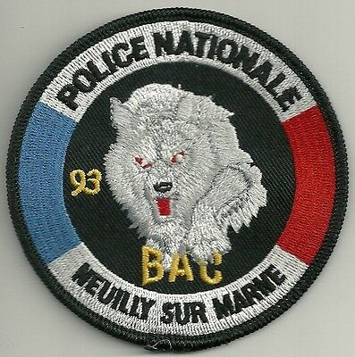 FRANKREICH POLICE NATIONALE  BAC NEUILLY sur MARNE SWAT SEK Polizei Patch France