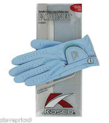 Kasco Ladies Sky Blue Fashion Fit Golf Glove. Small. Right Hand