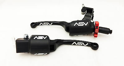 ASV F3 Pro Pack Black Unbreakable Folding Brake Clutch Levers TRX 450R Kickstart