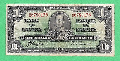 1937 Bank of Canada - $1 Coyne Towers Bank Note - C/N 6788178 - Fine