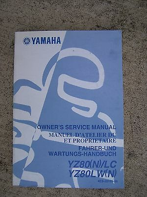 2000 Yamaha YZ80(N)/LC YZ80LW(N) Motorcycle Owner Service Manual MORE IN STORE L