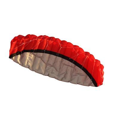 Red Foldable Parachute Kite w/ Flying Tools Dual Line Outdoor Sports 2.5M
