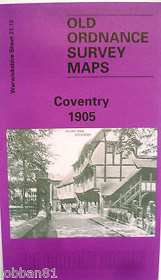 Old Ordnance Survey Detailed Map Coventry  Warwickshire 1905  Sheet 21.12