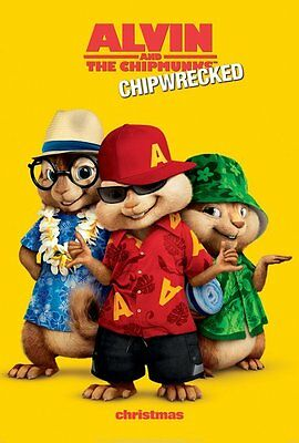 Alvin and the Chipmunks : Chip Wrecked Adv A Dbl Sided Orig Movie Poster 27x40