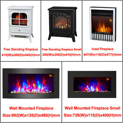 Modern Electric Fireplace Heater Fire Place Flame Effect Stove Living Room