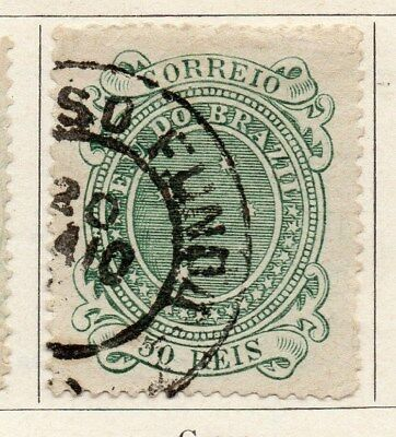 Brazil 1890 Early Issue Fine Used 50r. 097249