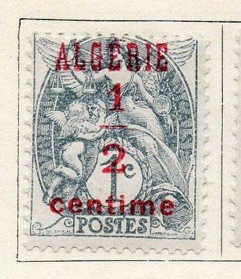 Algeria 1924-26 Early Issue Fine Mint Hinged 1/2c. Surcharged Optd 097287