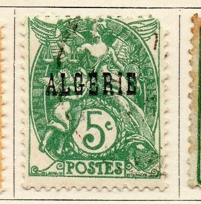 Algeria 1924-26 Early Issue Fine Used 5c. Optd 097293