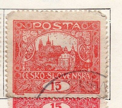 Czechoslovakia 1919 Early Issue Fine Used 15h. 097541