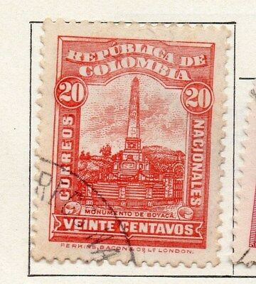 Colombia 1917 Early Issue Fine Used 20c. 097612