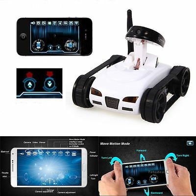 WiFi Spy Tank Car Robot Toy W/ Camera Remote Control&Video By Iphone iOS Android