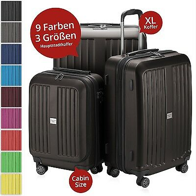 X-Berg Hauptstadtkoffer Set of 3 Hardside Luggages Trolley Suitcase