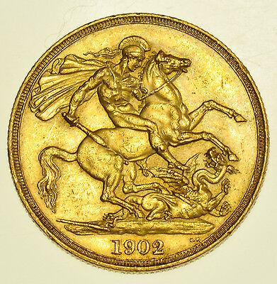 1902 Two Pounds £2, British Gold Coin From Edward Vii Au