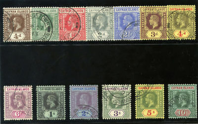 Cayman Island 1912 KGV set complete very fine used. SG 40-52b.