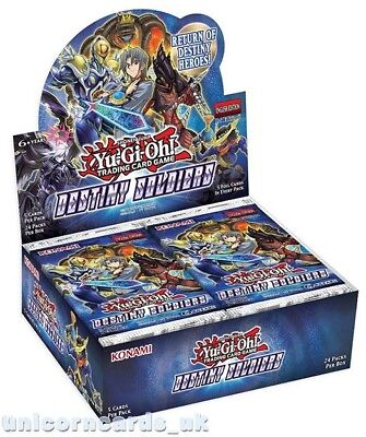 YuGiOh! Destiny Soldiers Booster Box : 24 Packs x 5 Holo Cards : New And Sealed