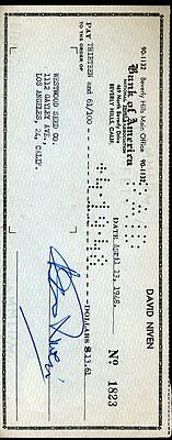 David Niven Jsa Authenticated Signed 1948 Check Autograph