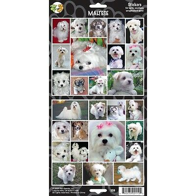 Sheet Of 27 Maltese Stickers - Stickersx Dog Lovers Gift Personalise Decorate