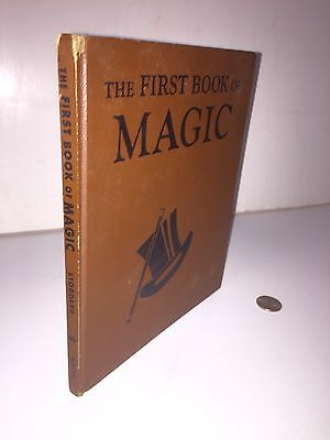 1953 The First Book Of Magic Illustrated Colored Litho's Great Halloween Prop