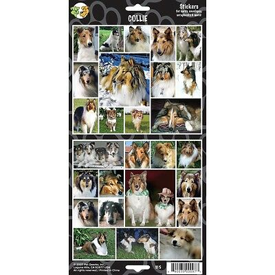 Sheet Of 27 Collie Stickers - X Dog Lovers Gift Personalise Decorate Stationary