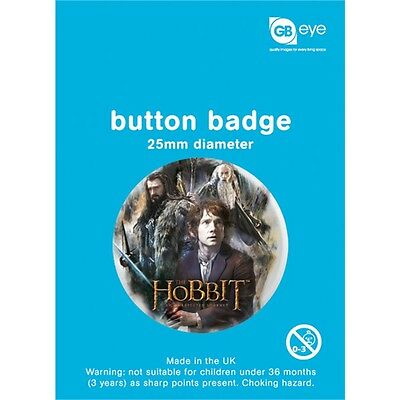 The Hobbit Group Button Badge - 25mm Film Official Merchandise Badges Accessory