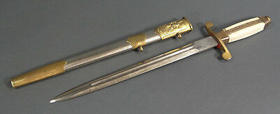 Post Wwii Bulgarian German Ally Officer Parade Dagger Dirk Blade Knife &scabbard