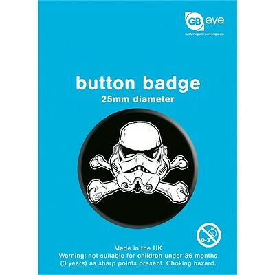 Star Wars Stormtrooper Button Badge - 25mm Sci Fi Tv Film Official Badges
