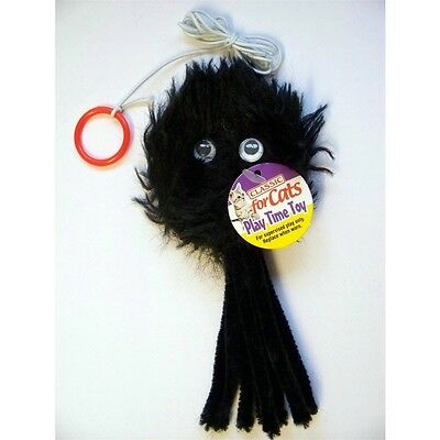 Furry Spider Cat Teaser Toy - Fur On Elastic James & Steel Kitten Hunt Pounce