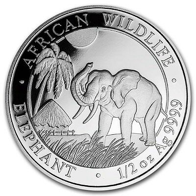 SOMALIE 50 Shillings Argent 1/2 Once Elephant 2017 - 1/2 Oz silver coin