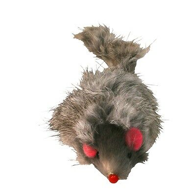 "4"" Long Hair Fur Mice Cat Toy - James & Steel 4"" Mouse Kitten Hunt Chase Pounce"