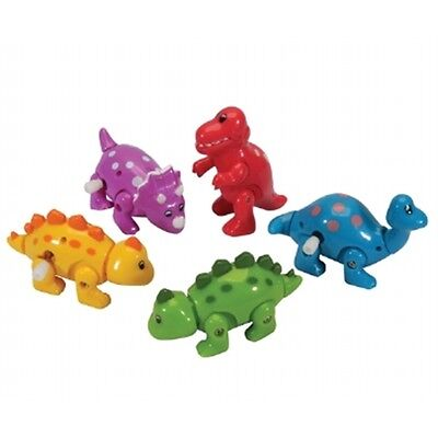 Clockwork Wind Up Dinosaur Toy Assorted Colours - 8cm Walking Party Loot Bag