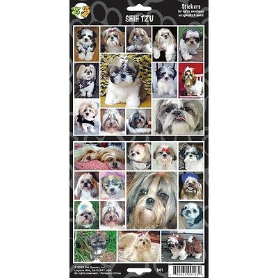Sheet Of 27 Shih Tzu Stickers - Stickerx Dog Lovers Gift Personalise Decorate
