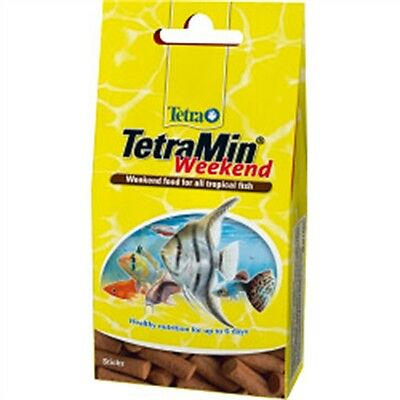 Tetra Weekend Fish Food 12 Stick Pack - Min Holiday Tropical Flakes Aquarium